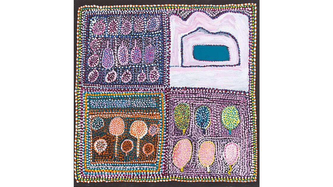 Loongkoonan,-Nyikina-people,-Bush-Tucker-in-Nyikina-Country,-2006,-acrylic-on-linen,-61-x-61cm.jpg