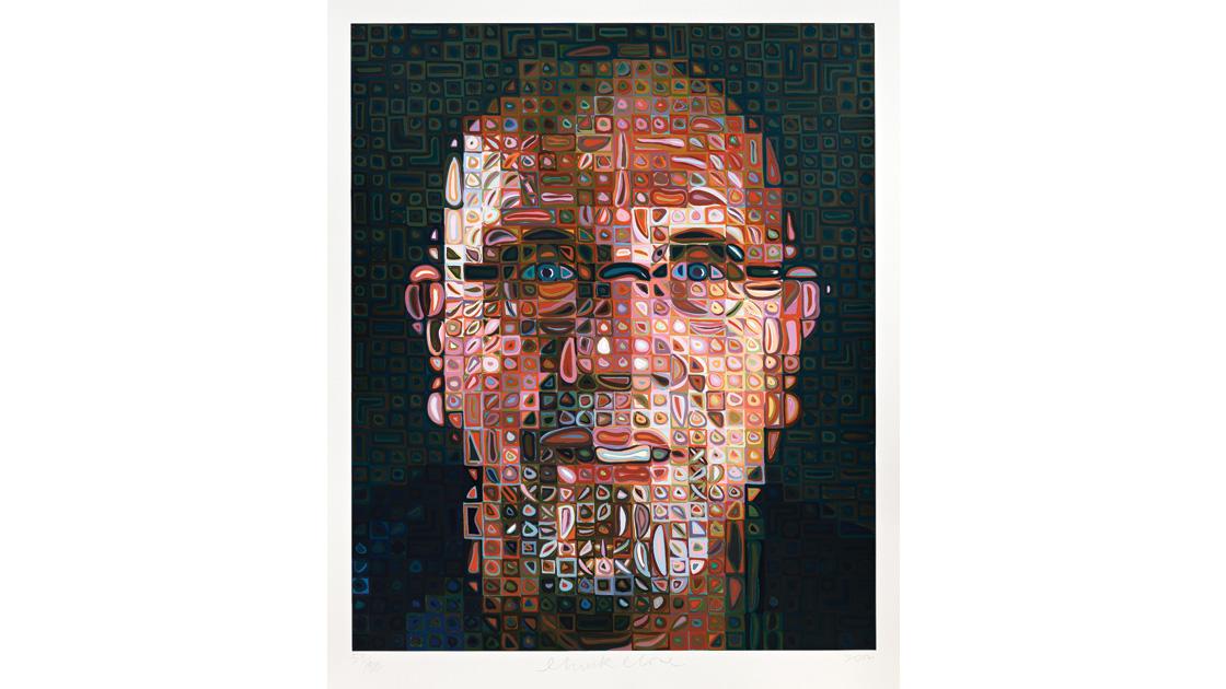 Self Portrait, 2012, screenprint, 167 x 139cm, ed. of 80