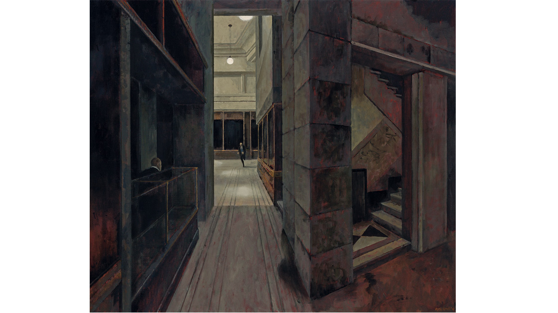 In the building, 2014, oil on canvas, 100 x 117cm