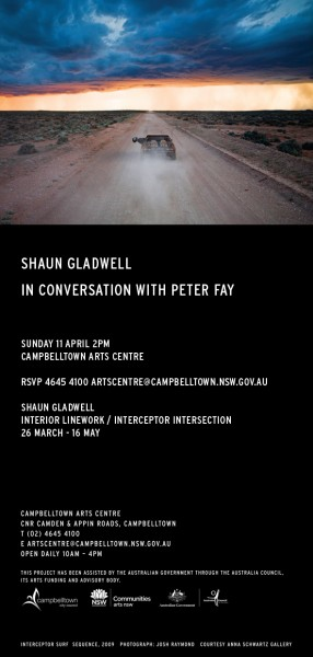Shaun Gladwell Invitation