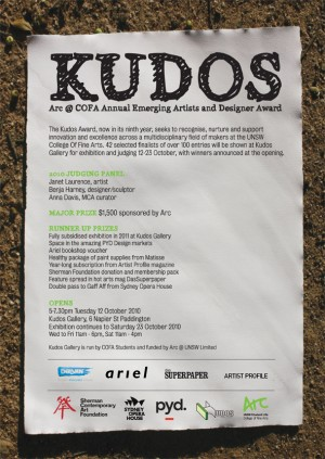 KUDOS AWARD! image