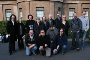The group of artists departing Sydney for Fowlers Gap.