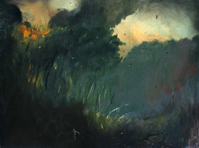 Wild Fire, Angus Wood, Oil on Wood, 2011