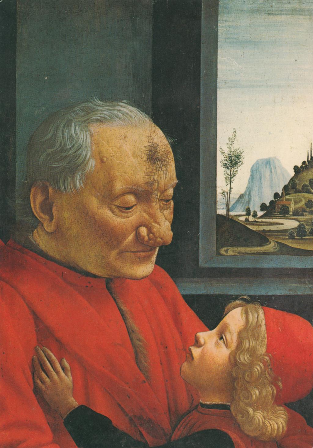 Ghirlandaio (1449-1494), Portrait d'un viellard et de son petit-fils, Musee de Louvre, Paris