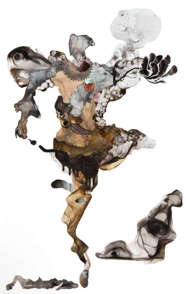 Rhonda Dee. Fluis, 2013. Acrylic on Mylar on board, 122 x 87 cm