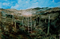 thumbnail---John-Walsh,Empty-trenches,Gallipoli,April,May-2014,oil-on-paper,250mmx350mm