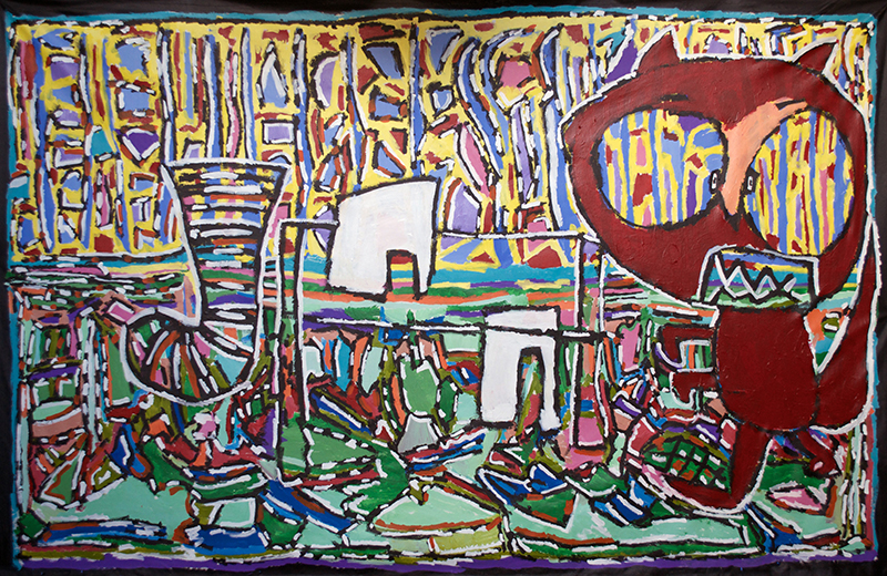 the story of washing line and wallbie 200cm x310cm