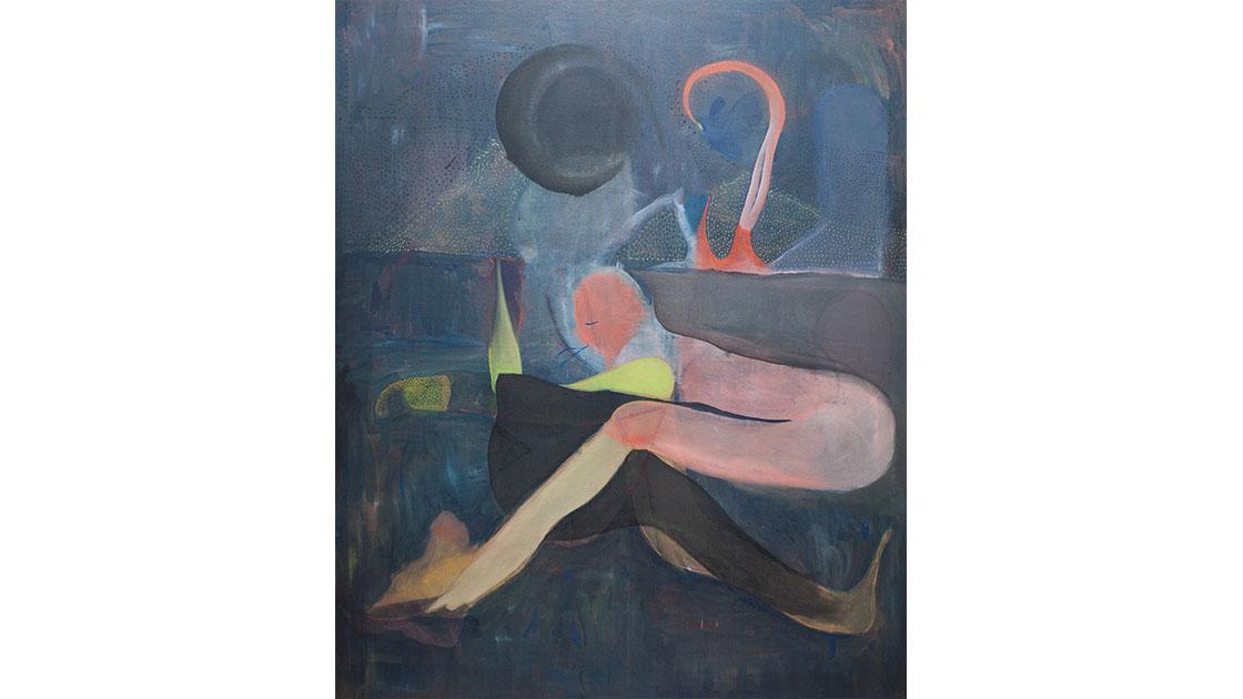 """Where All Sleeps,"" 2016, oil on linen, 185 x 160 cm, courtesy the artist and Chalk Horse"