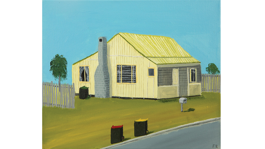 House-opposite-Bulli-Station,-2014,-oil-on-canvas,-25.5-x-30.5cm