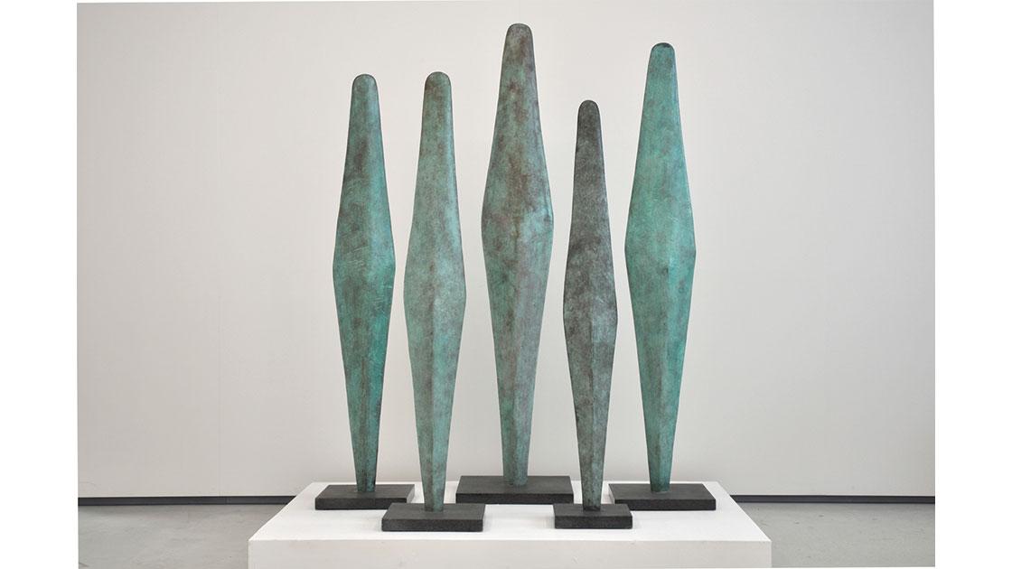 """The Head,"" 1990, bronze and granite, 5 pieces, various sizes, courtesy Utopia Art, Sydney"