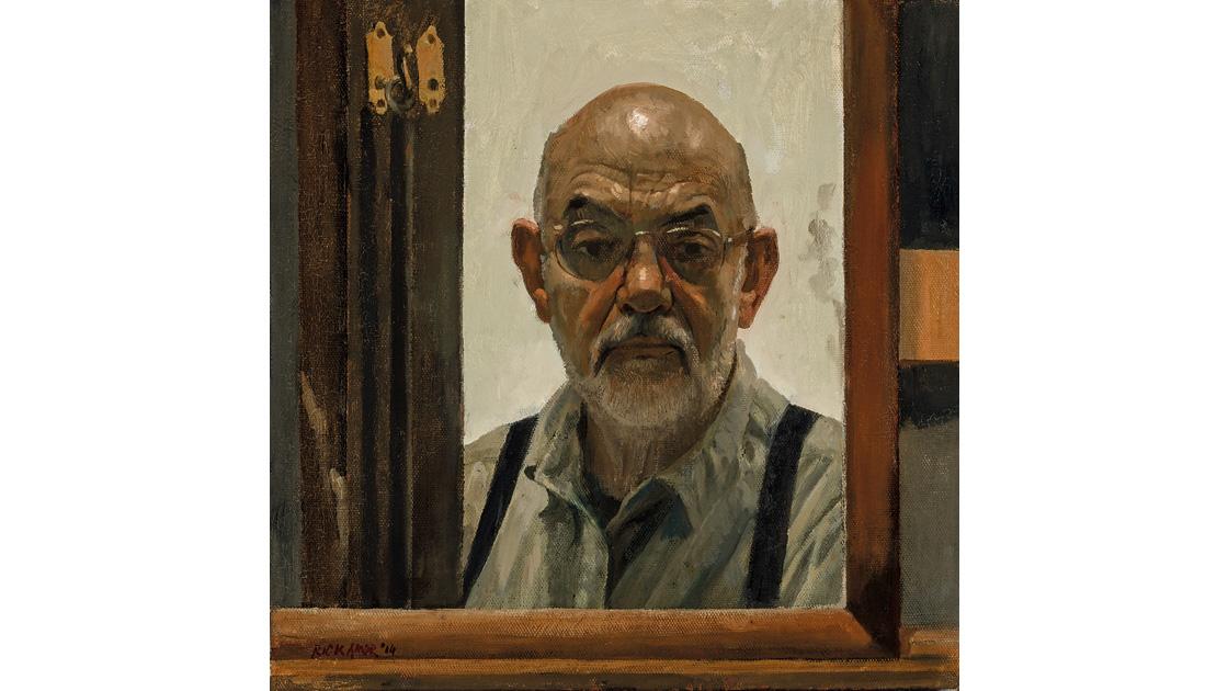 Self portrait, 2014, oil on canvas, 46 x 46cm