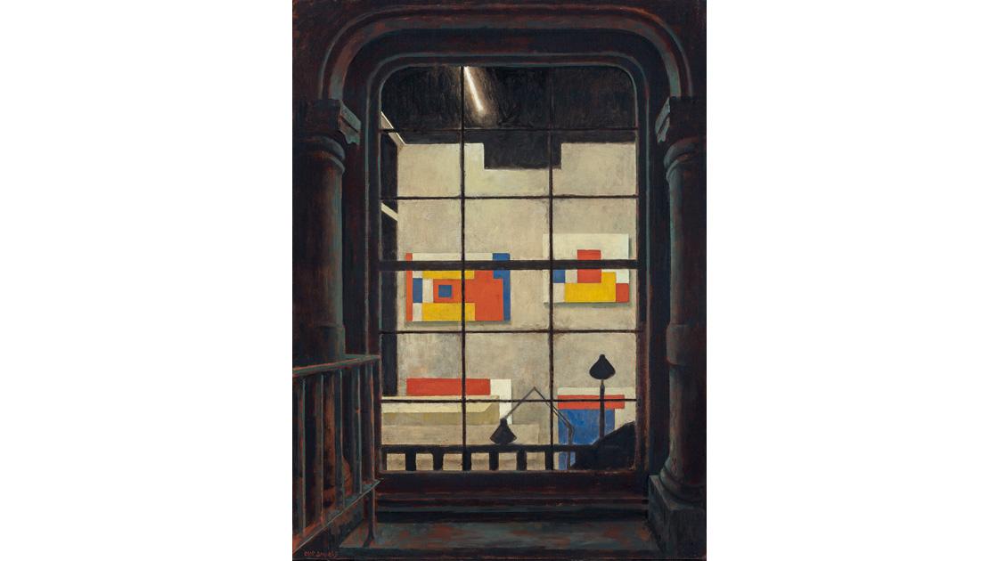 Studio loft, Soho, New York, 1999-2013, oil on canvas, 100 x 74cm