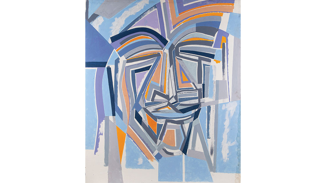 """""""Abstract Face"""" (detail), c. 1990, oil on cardboard, 151 x 154 cm, photo Lyle Branson, courtesy the estate of the artist and Lawrence Wilson Art Gallery."""